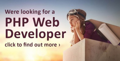 We're recruiting for a PHP Web Developer